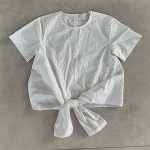 JOA CRISP WHITE SHIRT WITH TIE